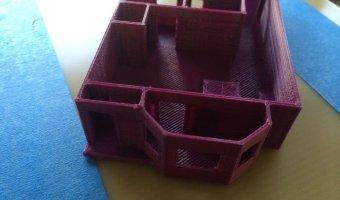3d εκτυπωμένη μακέτα σπιτιού