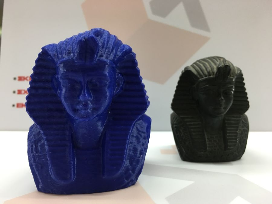 3d scanned and printed toutanhamon