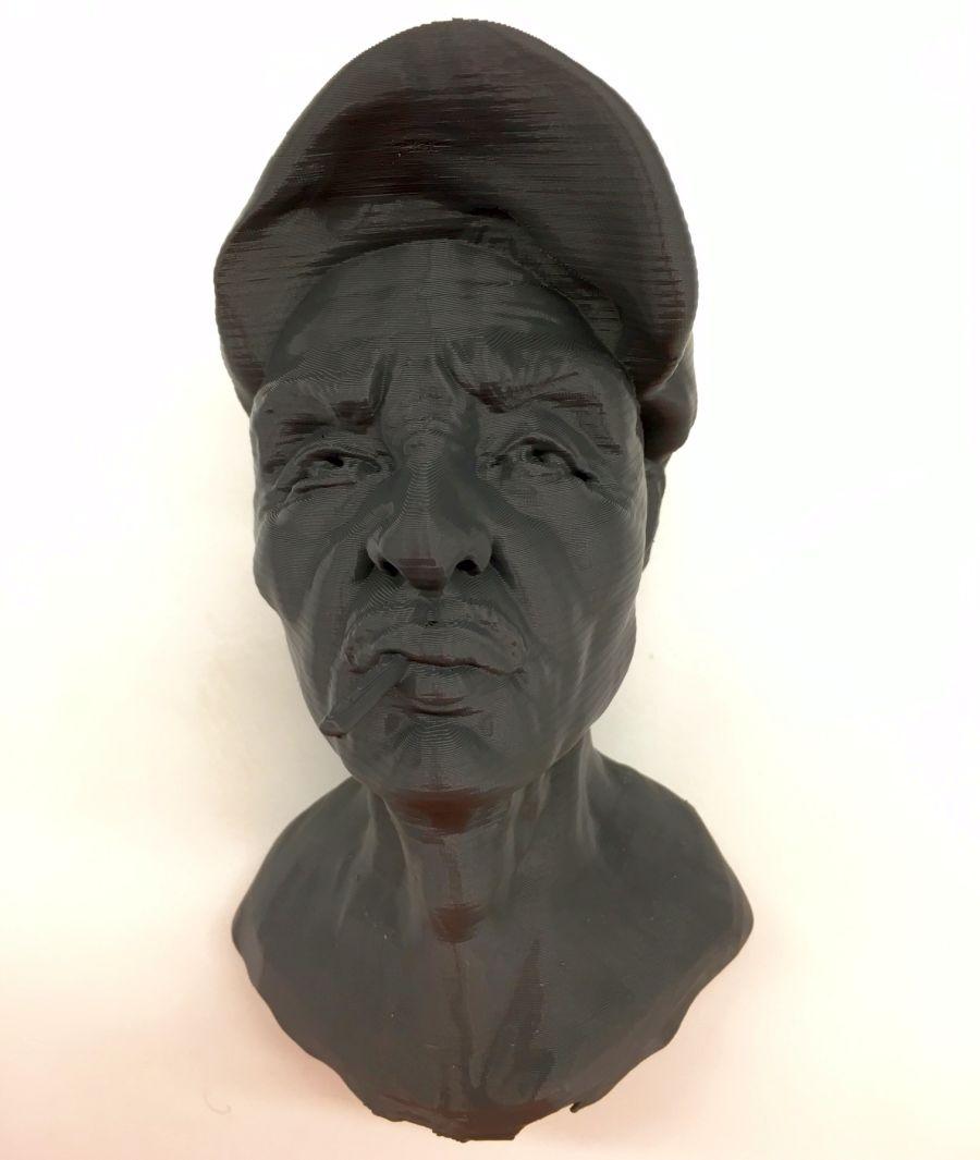 3d printed man face