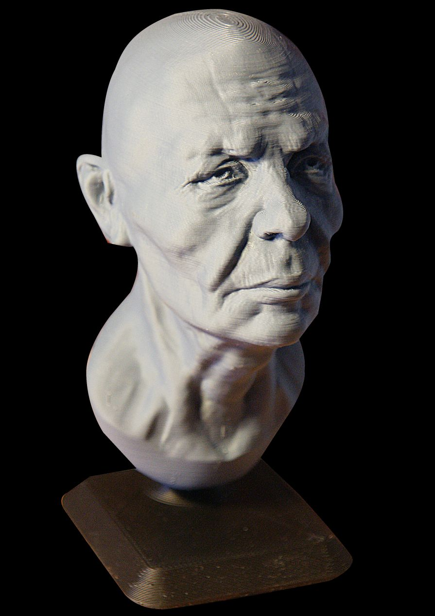 3d printed man face