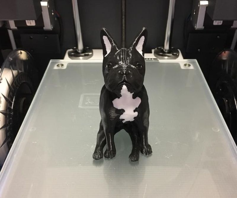 3d printed dual extruded dog