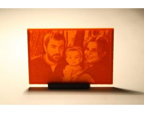 Lithophane custom φωτογραφία 80x60mm